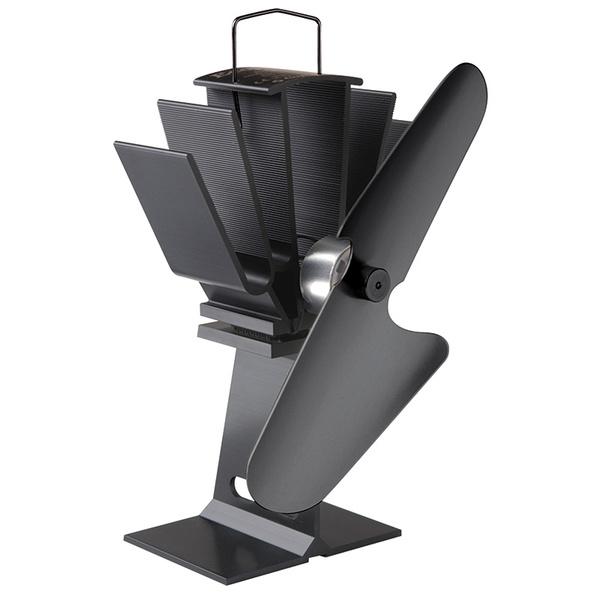 Caframo Ecofan Original Heat Powered Stove Fan, 100cfm, Black