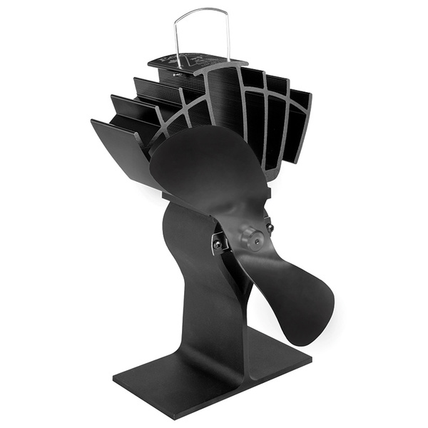 Caframo Ecofan UltrAir Heat Powered Stove Fan, 125cfm, Black/Black