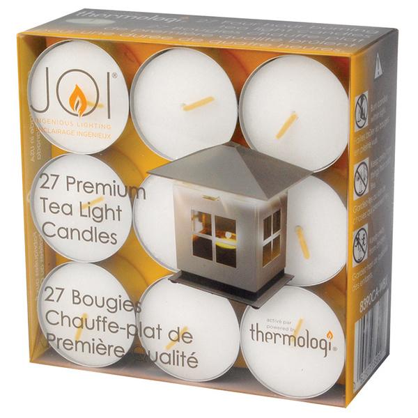 Caframo JOI Tea Light Replacement Candles, 27-Pack