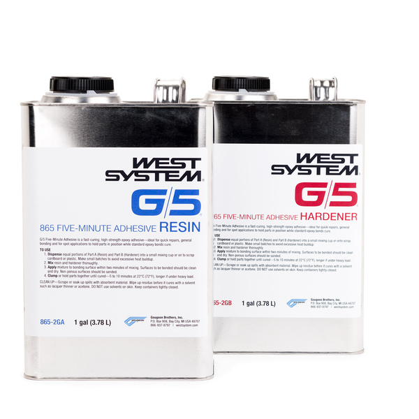 West System G/5 Five minute Epoxy Adhesive Sale $316.99 SKU: 16900763 ID# 865-2G :