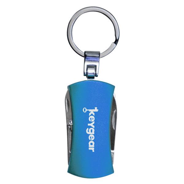 Keygear 5-in-1 Multi-Tool Keychain, Blue