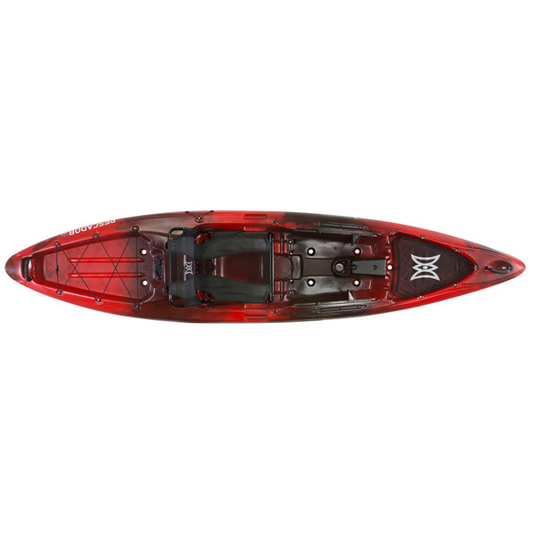 Perception pescador pro 12 0 sit on top angler kayak red for Perception fishing kayak
