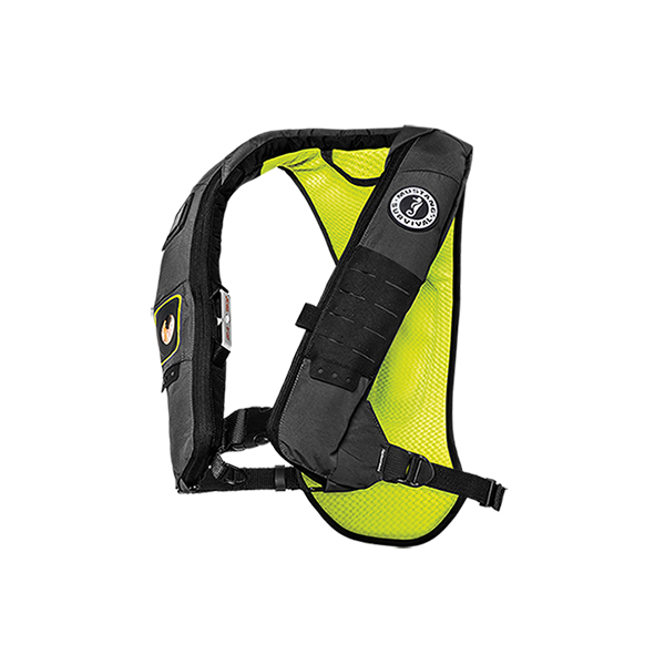 Mustang survival elite 28k inflatable life jacket adult for Best inflatable life vest for fishing