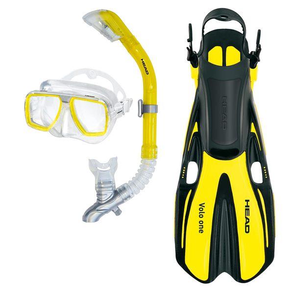 HEAD Tarpon/Barracuda/Volo One Snorkel Set, Yellow ML Sale $49.95 SKU: 17050873 ID# 480307SFYL ML :