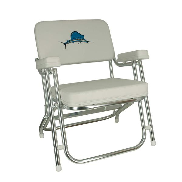 springfield embroidered folding deck chair west marine