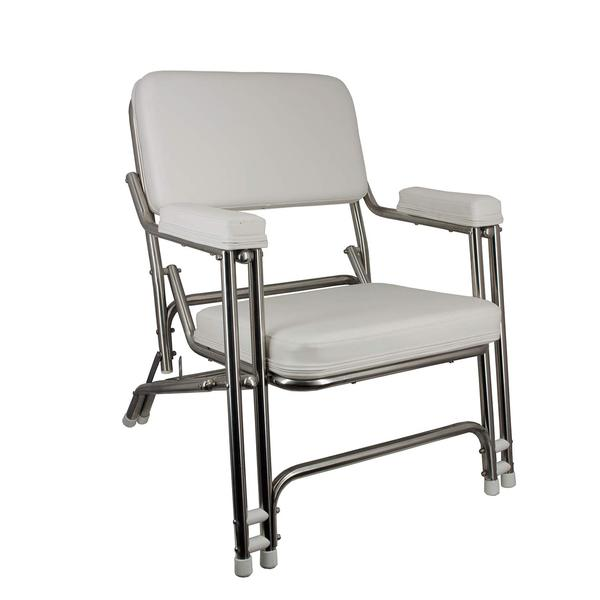 Springfield Stainless Steel Folding Deck Chair West Marine
