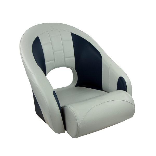 Springfield Marine White And Blue Dlx Sport Bucket Seat