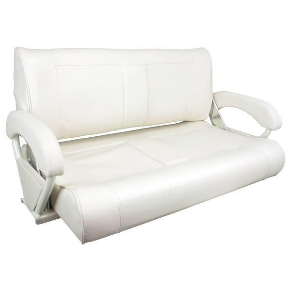 Springfield Double Bucket Bench Seat White Upholstery West Marine