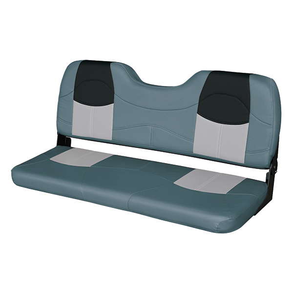 Wise Marine Seating 48 Bench Seat Charcoal Gray Black