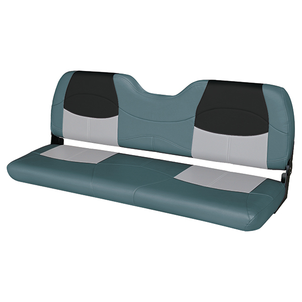 Wise Marine Seating 58 Bench Seat Charcoal Gray Black
