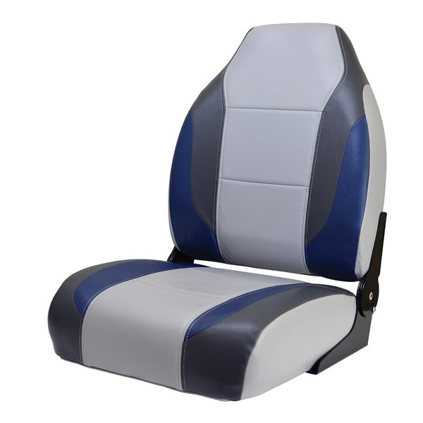 Wise Marine Seating Bass Boat Seat Gray Midnight Blue