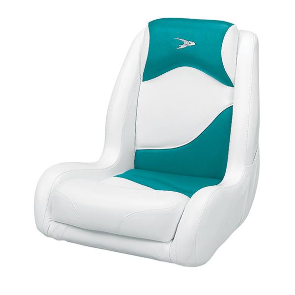 Wise marine seating recaro bucket seat white teal west for Fishing bucket seat