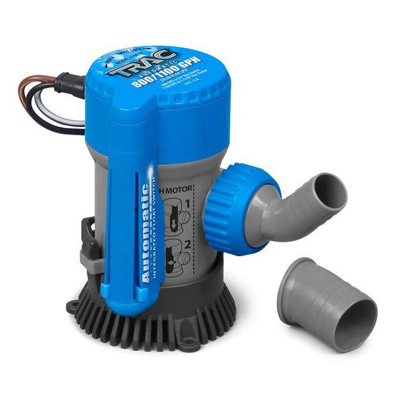Trac® AUTO 800/1100 GPH 3/4 & 1-1/8 Bilge Pump