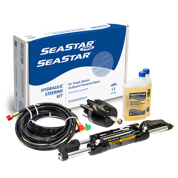 Seastar Solutions SeaStar 1.7 Front-Mount Outboard Hydraulic Steering Kit without Hoses Sale $1039.00 SKU: 171046 ID# HK6400A UPC# 731957827708 :