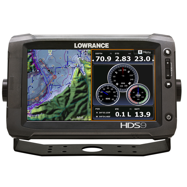 Lowrance HDS-9 Gen2 Touchscreen Fishfinder/Chartplotter, Pro Insight Cartography