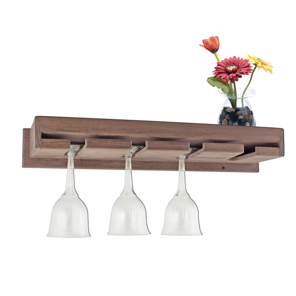 Seateak Wineglass Rack with Shelf