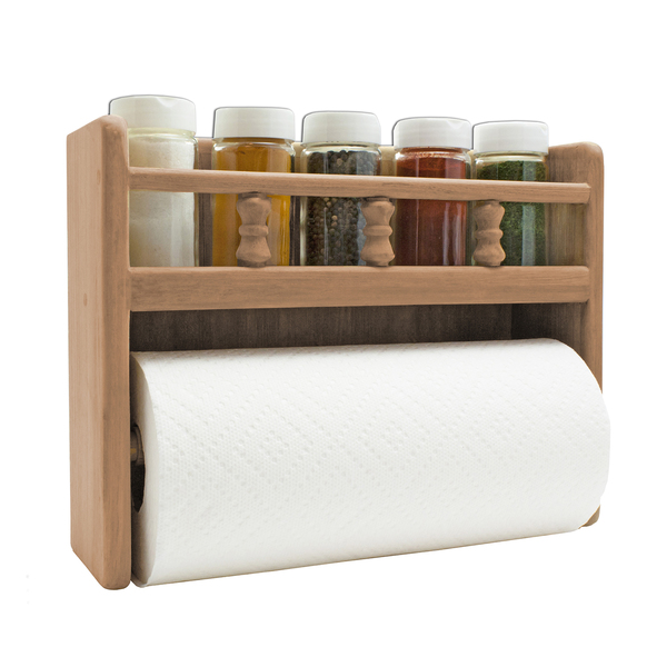 Seateak Paper Towel Rack with Spice Rack Sale $69.99 SKU: 17271909 ID# 62446 :
