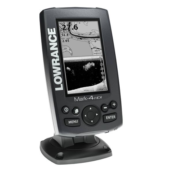 Lowrance Factory Inspected and Certified Demo Unit; MARK-4 HDI with 83/200 kHz Tran Mt. Transducer and US Base Map Cartography