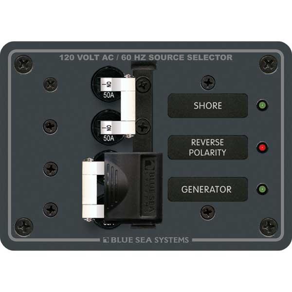 Blue Sea Systems AC Toggle Source Selector 120V AC 50A