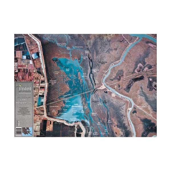 Standard Mapping Service Lake Henderson, Louisiana Laminated Map Sale $13.77 SKU: 1868116 ID# LM056 :