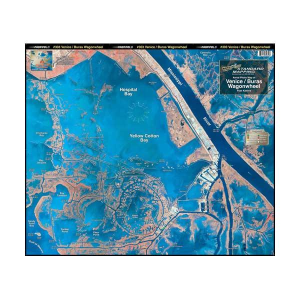 Standard Mapping Service Venice/Wagon Wheel, Louisiana Laminated Map Sale $19.95 SKU: 1868132 ID# LM003 :