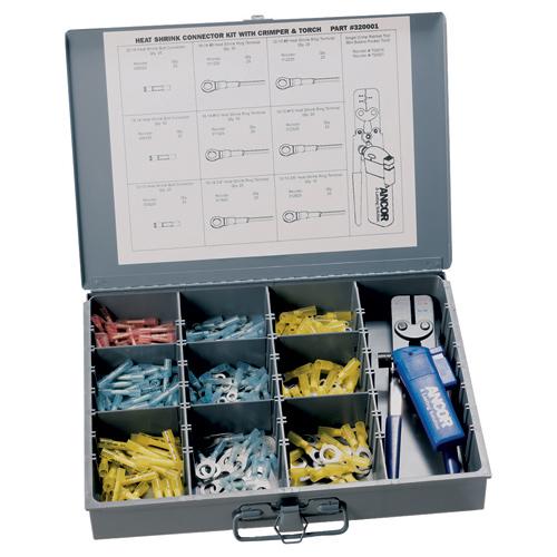 Ancor 257-Piece Marine-Grade Heat Shrink Connector Kit with Crimper & Mini Torch