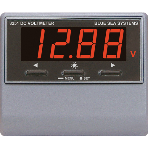 Blue Sea Systems DC Digital Voltmeter with Alarm Sale $224.99 SKU: 1931799 ID# 8251 UPC# 632085082512 :