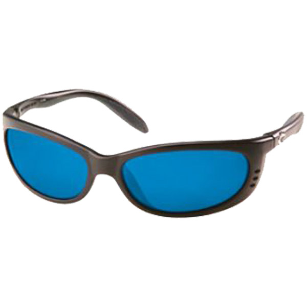 Fathom Sunglasses, Matte Black Frames with Costa 400 Blue Mirror Glass Lenses