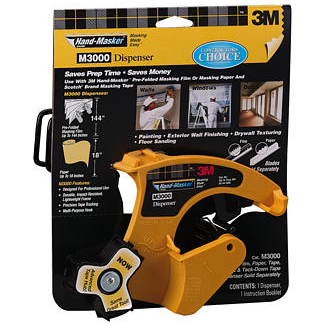 3M M3000 Hand-Masker Pre-Assembled Masking Film Tape Kit Sale $109.99 SKU: 2088839 ID# 86952 UPC# 51131869523 :