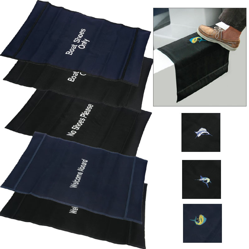 "Boatmat ""Welcome Aboardx9D Boarding Mat, Navy"