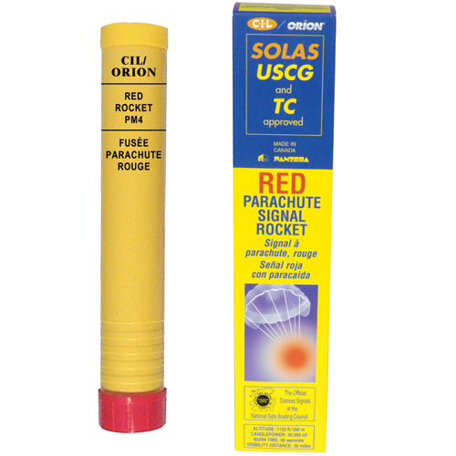 Orion Red Parachute SOLAS Signal Rocket Sale $67.99 SKU: 2356020 ID# 800 UPC# 77403521623 :