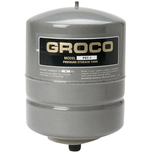 Groco PST-1 Pressurized-Steel Water Storage Tank