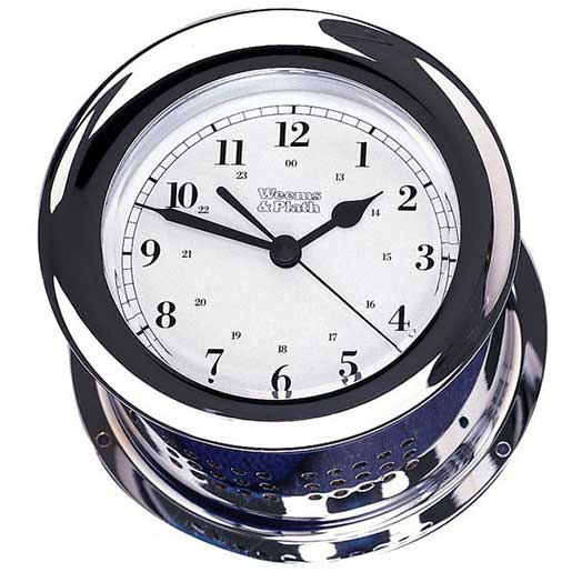Weems & Plath Atlantis Quartz Clock, Chrome Sale $379.99 SKU: 2508521 ID# 220500 :