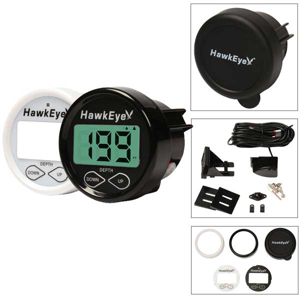 Norcross Marine D10D Hawkeye Digital Depth Sounder, Transom-mount/In-hull