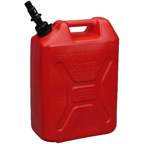 Scepter 5 Gallon CARB Gas Tall Jerry Can with CRC (Red)