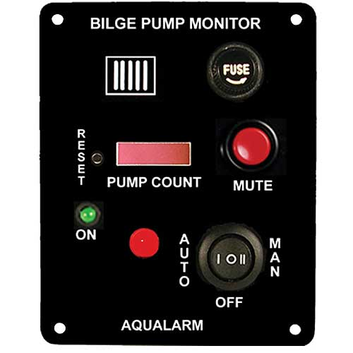 Aqualarm Bilge Pump Monitor, Alarm and Counter