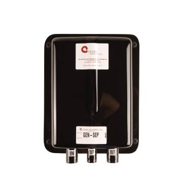 Centek Gen-Sep Water Separator, 1-1/2 Diameter, Gas In/Out 1.5, Water Outlet 1.25