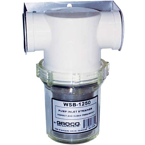 Groco Inline Water Strainer, 1-1/4 Port Sizes
