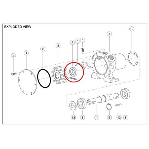 Rule Industries Seal (Shaft) for 2620 Series