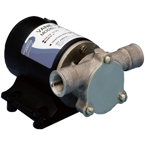 Jabsco Single Direction Vane Pump, 6.2 gpm, 3-3/8H x 4-3/4W x 6-7/8L