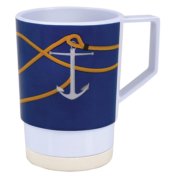 Galleyware Patterned Dinnerware - Mug, 12oz, Anchorline