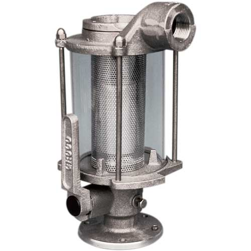 Groco Seacock/Strainer, 1-1/4 Inlet (NPS), 1-1/4 Discharge (NPT), 15 Height