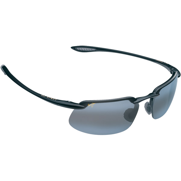 Maui Jim Kanaha Sunglasses, Glossy Black/gray Frames with Neutral Gray Lenses