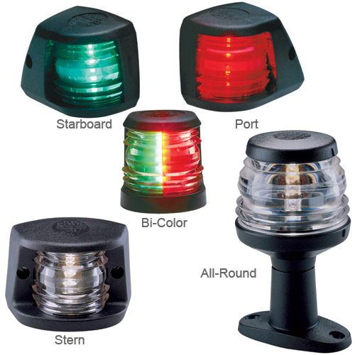 Aqua Signal All-Round Fold-Down Pedestal-Mount Light, 5W, 2nm Visibility, Black Housing