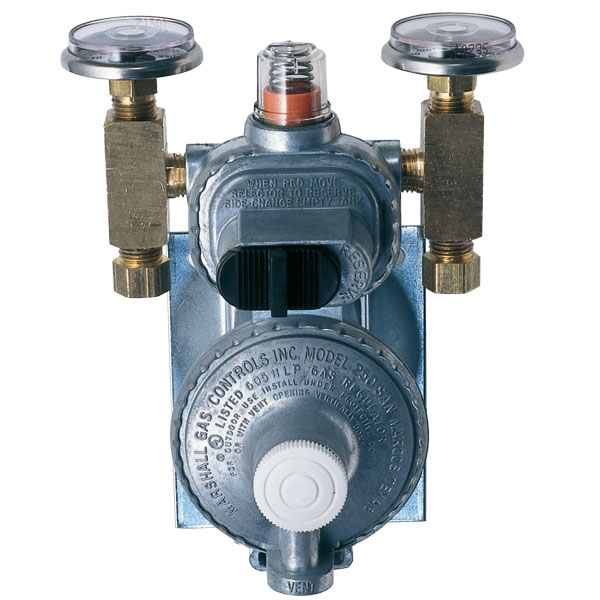Trident Marine Two-Stage Bulkhead-Mount LPG Regulator