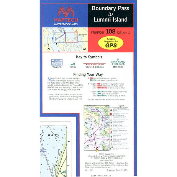 Maptech Boundary Pass to Lummi Island, 1st Edition