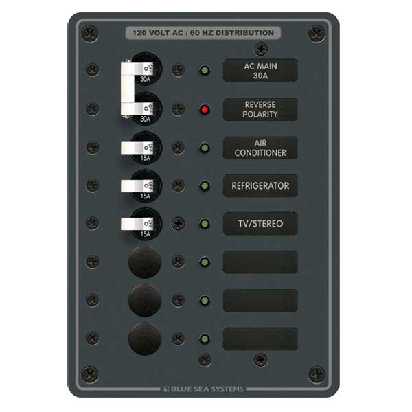 Blue Sea Systems 13-Position 12V DC Toggle Breaker Panel, 10 Included Circuits, 7-1/2 x 10-1/2