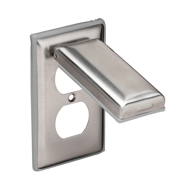 Marinco weatherproof stainless steel duplex outlet cover
