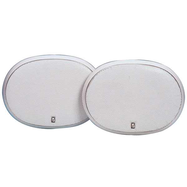 Poly Planar 6x9 Platinum Oval Flush 3-Way Mount Speakers