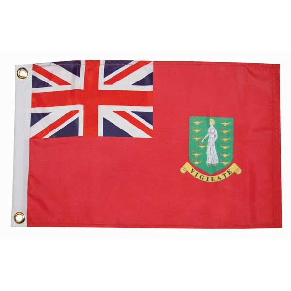 Taylor Made British Virgin Islands Courtesy Flag; 12'' X 18''